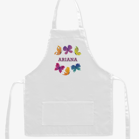 Personalized Butterfly Kids Apron