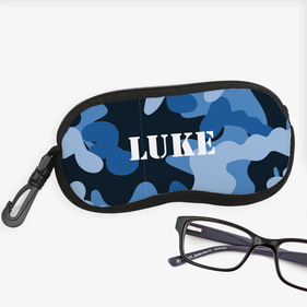 Personalized Camouflage Glasses Case
