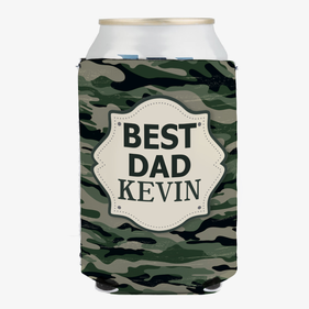 Personalized Best Dad Can Beverage Holder