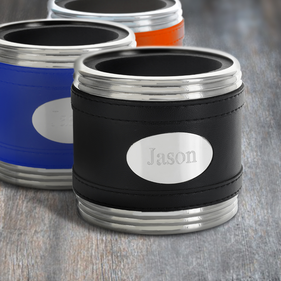 Personalized Can Holder with Engraved Plate