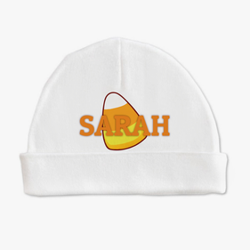 Personalized Candy Corn Baby Cap