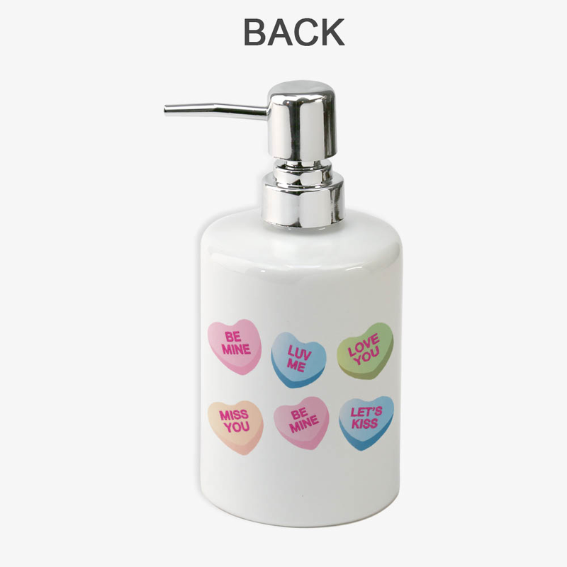 buy now - personalized candy heart soap dispenser
