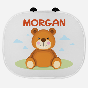 Personalized Car Sunshade Guard with 2 Suction Cups for Kids