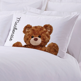 Personalized Caring Teddy Bear Pillowcase