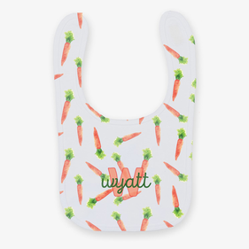 Flash Sale - Personalized Carrots Baby Bib