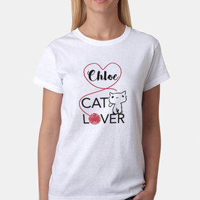 Personalized Cat Lover T-shirt