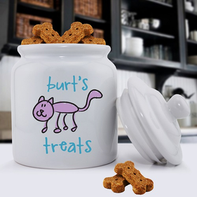 Personalized Cat Treat Jar
