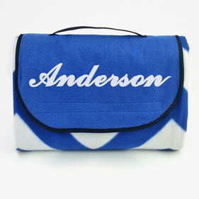 Personalized Chevron Beach and Picnic Blanket