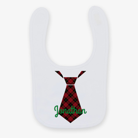 Personalized Christmas Color Tie Bib