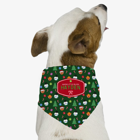 Personalized Christmas Dog Bandana