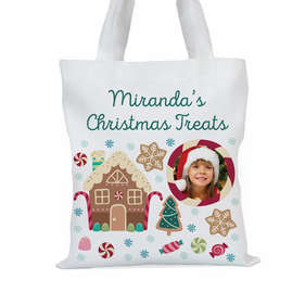 Personalized Christmas Treats Photo Tote Bag