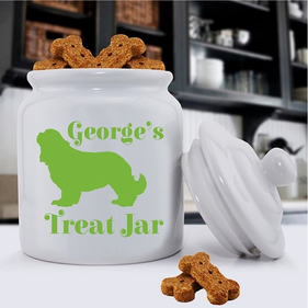 Personalized Classic Silhouette Dog Treat Jar