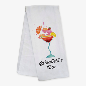 Personalized Cocktail Bar Towel
