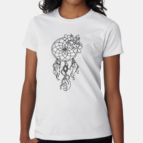 Add Color Personalized Dream Catcher T-Shirt for Women