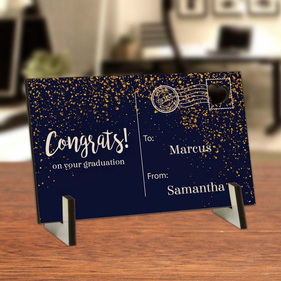 Personalized Congrats Wood Postcard