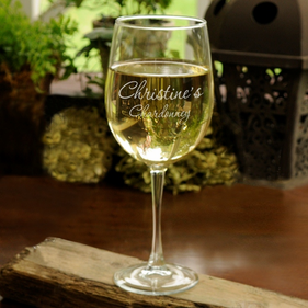 Personalized White Wine Glass