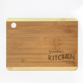 Personalized Cooked with Love Cutting Board
