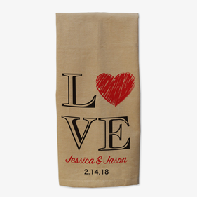 Personalized Couple Love Kitchen Towel