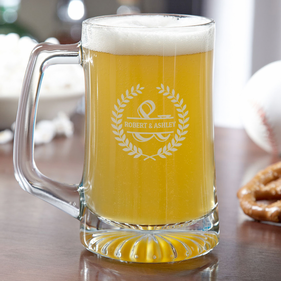Personalized Couples Beer Mug