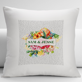 Personalized Couples Love Poem Decorative Cushion Cover