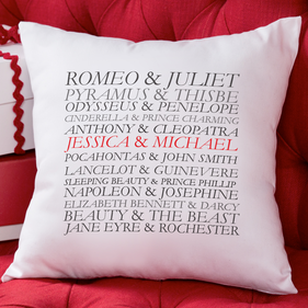 Personalized Couples Decorative Cushion Cover
