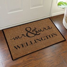 Personalized Couples Doormat