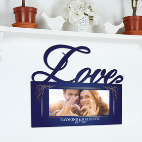Personalized Couples Established Photo Love Wall Sign