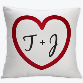 Personalized Couples His And Hers Cushion Cover
