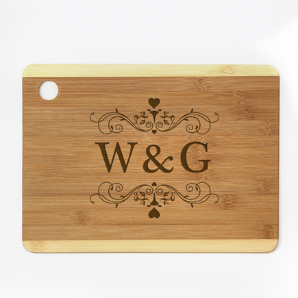 Personalized Couples Initials Cutting Board