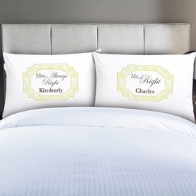 Personalized Couples Mr & Mrs Pillow Cases