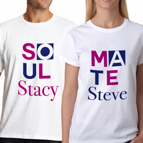 Personalized Couples Soul Mate T-Shirt