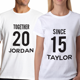 Personalized Couples TOGETHER SINCE T-Shirt