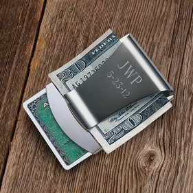 Personalized Credit Card and Money Clip