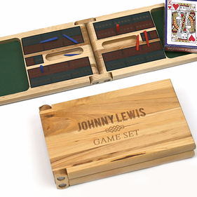 Personalized Cribbage Game Gift Set