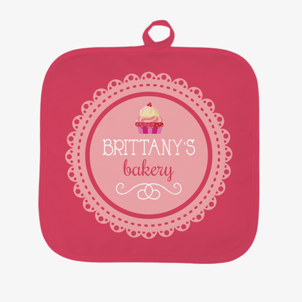 Personalized Cupcake Bakery Pot Holder