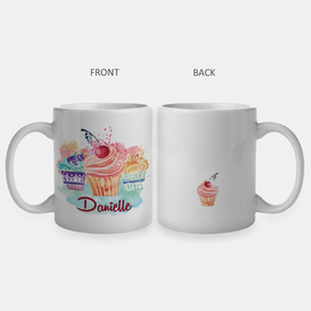 Personalized Cupcakes Ceramic Mug