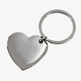 Personalized Cupid Heart Key Ring