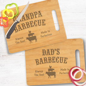 Personalized Dad's and Grandpa Barbecue Cutting Board