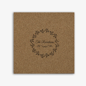 Personalized Dainty Flower Cork Memo Board