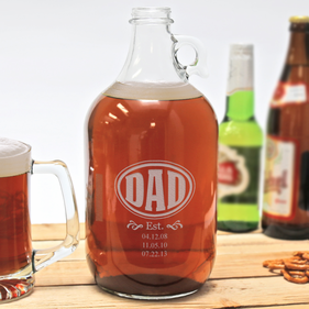 Personalized Date Established Growler for Dad
