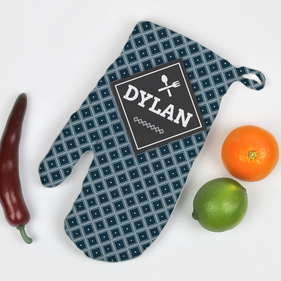 Personalized Diamond Design Oven Mitt