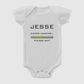 Custom Diaper Loading Baby Short Sleeve One-Piece Bodysuit