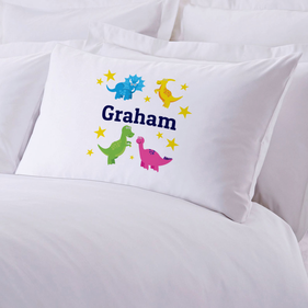 Personalized Dinosaurs Stars Pillowcase