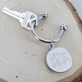Personalized Disk Key Chain
