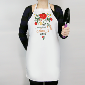 Personalized Do Not Disturb Nanna's Gardening Apron