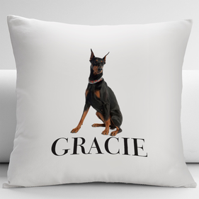 Personalized Doberman Pets Decorative Cushion Cover
