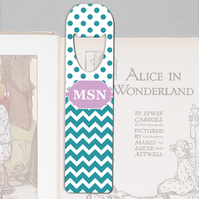 Personalized Dotted Chevron Bookmark