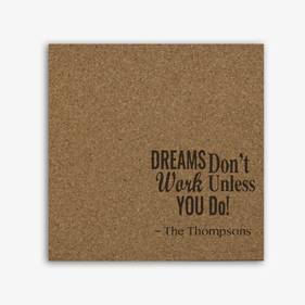 Personalized Dreams Quote Memo Board