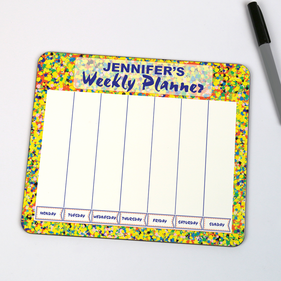Personalized Dry Erase Board Weekly Planner