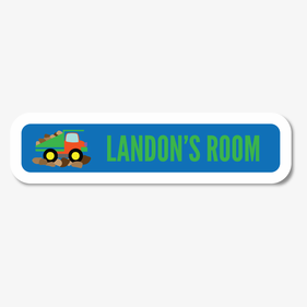 Personalized Dump Truck Sign